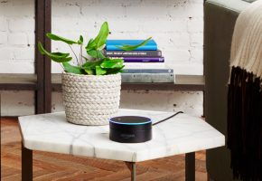 Voice search device on a table